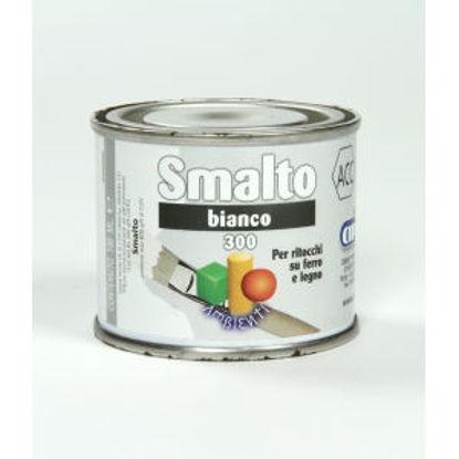 Immagine di Smalto ritocco - smalto sintetico di altissima qualitÀ per laccature di pregio all'esterno e all'interno.  bianco - 100 ml