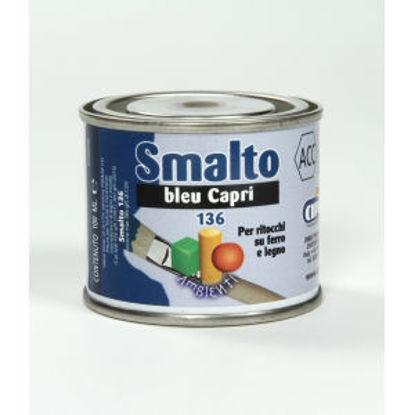 Immagine di Smalto ritocco - smalto sintetico di altissima qualitÀ per laccature di pregio all'esterno e all'interno.  bleu capri - 100 ml