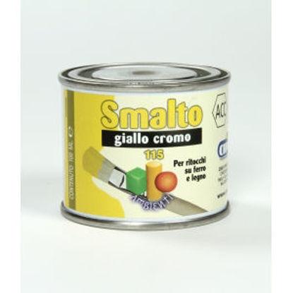 Immagine di Smalto ritocco - smalto sintetico di altissima qualitÀ per laccature di pregio all'esterno e all'interno.  giallo cromo - 100 ml