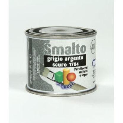 Immagine di Smalto ritocco - smalto sintetico di altissima qualitÀ per laccature di pregio all'esterno e all'interno.  grigio argento scuro - 100 ml