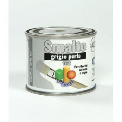 Immagine di Smalto ritocco - smalto sintetico di altissima qualitÀ per laccature di pregio all'esterno e all'interno.  grigio perla - 100 ml