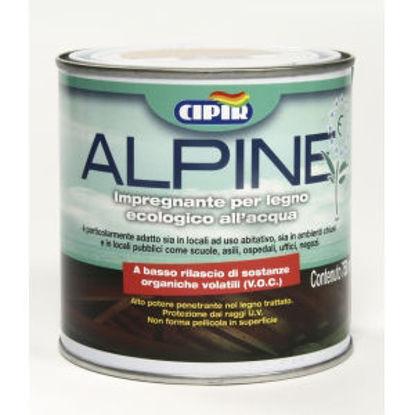 Immagine di 'alpine', impregnante all'acqua per legno, ecologico, color teak, 750 ml.