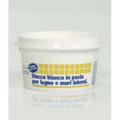 Immagine di Stucco bianco - stucco in pasta a rasare per muri e legno. 250 g