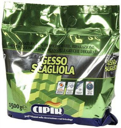 Immagine di Gesso scagliola in sacchetto - prodotto in polvere a base gesso con aggiunta di regolatori di tempo di presa. 1500 g