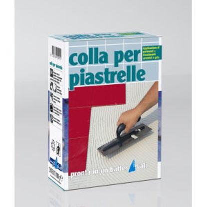 Immagine di Colla per piastrelle - adesivo cementizio bianco per la posa di piastrelle assorbenti di piccolo formato, in ambienti interni. 1000 g