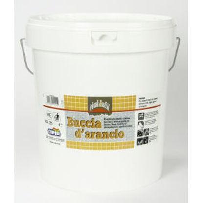 Immagine di Buccia d'arancio - rivestimento plastico continuo di ottima qualita, ad effetto bucciato fine lucido.  bianco - 25 kg