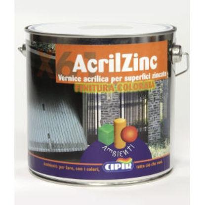 Immagine di Acrilzinc - vernice a smalto - antiruggine per tetti con coperture metalliche bleu capri - 2500 ml