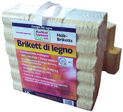 Immagine di Tronchetto a mattonella per stufe e camini, pacco kg.10