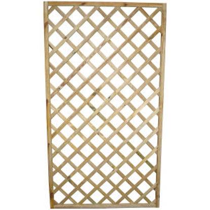 Immagine di Griglia diagonale in legno impregnato slim, dimensione cm.100x180x3,5