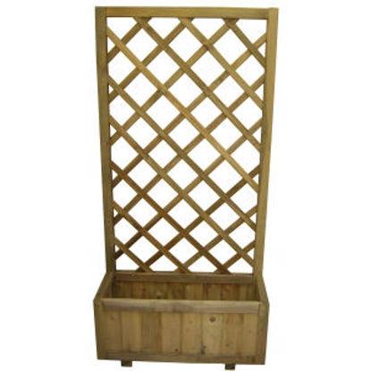 Immagine di Fioriera con griglia legno impregnato cm.35x70xh.150
