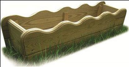 Immagine di Balconiera legno impregnato, cm. 50x20x20