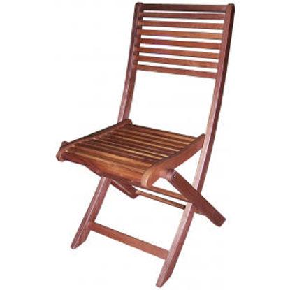 Immagine di sedia new style in acacia, senza braccioli pieghevole, dimensioni cm.47x58 h.90
