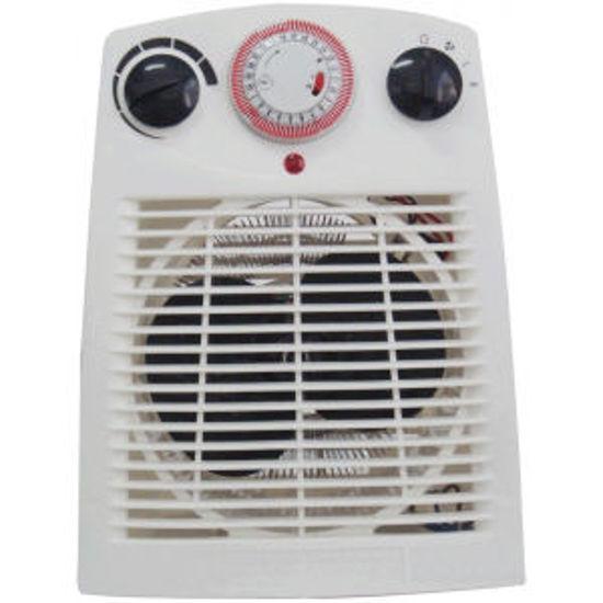Immagine di Termoventilatore con timer e termostato, 2 liv.potenza-1000/2000 watt