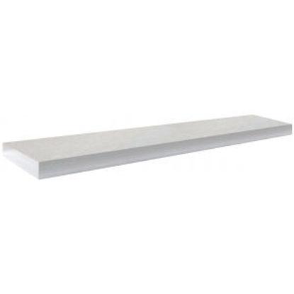 Immagine di Mensola tamburata spessore 5 cm. colore bianco, dimensione 150x25 cm. portata kg.10.