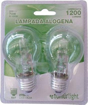Immagine di Lamp.alogena goccia e27 70w 2pz