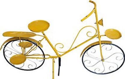 Immagine di Bicicletta gialla portafiori 135x45x83