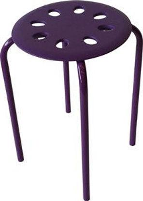 Immagine di Sgabello dollino viola cm.30x30x45