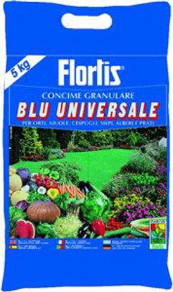 Immagine di Concime granulare blu universale kg.5, con elementi nutritivi fondamentali per un corretto sviluppo di ortaggi, siepi, aiuole, cespugli, alberi e prati,composizione. npk (mg-s) 12-12-17 (2-14)