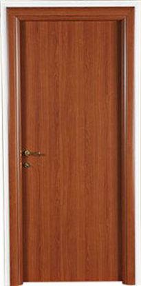 Immagine di Porta modello norma decor reversibile, colore ciliegio, profili regolabili, misure cm. l.80 h.211.