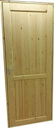 Immagine di Porta modello lugano pino grezzo cm.70,  reversibile,  con telaio.