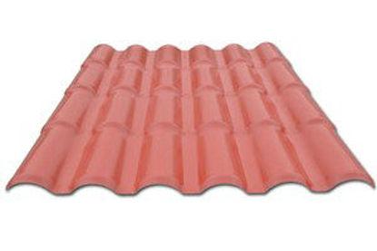Immagine di Lastra di copertura modello roma colore terracotta cm. 1080x2952