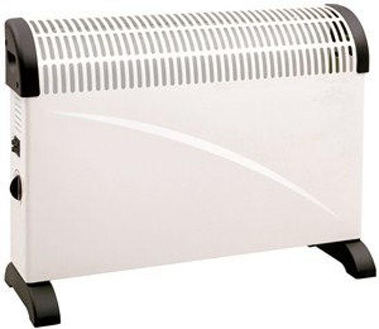 Immagine di termoconvettore, due interruttori per tre differenti livelli termici 750/1250/2000 watt