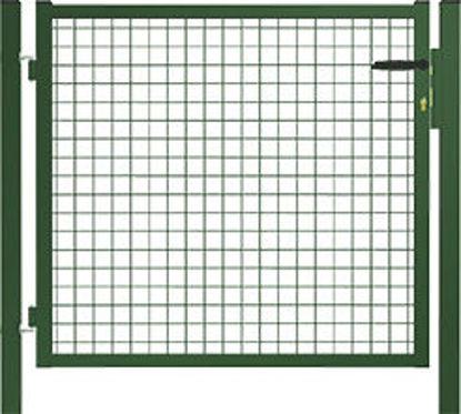 Immagine di Cancello  da giardino a rete quadra metallica con pali tondi cm.100x100h