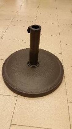 Immagine di base per ombrelloni in poliresina kg.12, dimensione diametro cm.44, per ombrelloni con palo diametro mm.38/48