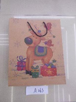 Immagine di Borsetta regalo con manici con renna 39,5x32x10cm