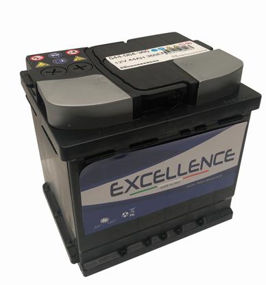 Immagine di batteria auto excellence tensione 12 volt capacità 44 ah spunto 360a(en) dimensioni mm 207x175x190 l1 polarità dx