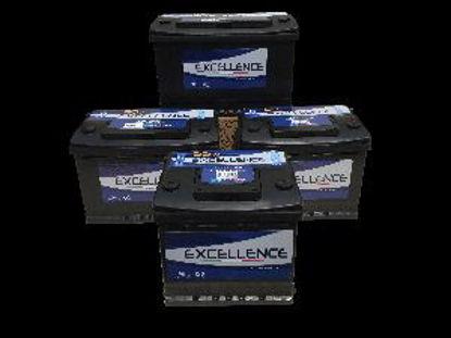 Immagine di batteria auto excellence tensione 12 volt capacità 64 ah spunto 540a(en) dimensioni mm 240x175x190 l2 polarità dx