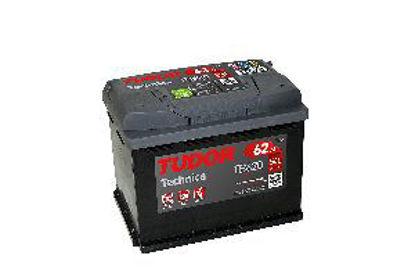 Immagine di batteria auto tudor technica tb620, tensione 12 volt capacità 62 ah spunto 540 a(en) misure mm. 242x175x190 l02 polarità dx