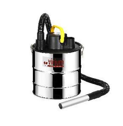 Immagine di aspiracenere potenza 1000watt, fusto inox lt.18 con filtro hepa