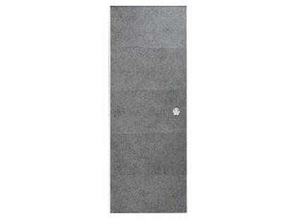 Immagine di door in box, kit porta scorrevole con guida da interno, in pvc ideale per tutti gli ambienti di casa, misure cm. l.87,4 h.211,6 spessore cm.3,5, colore cemento
