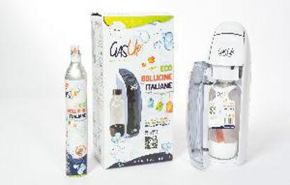 Immagine di gas-up kit gasatore + bombola gas + 1 bottiglia colore bianco