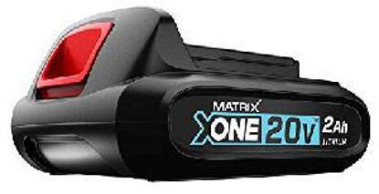 Immagine di Batteria di ricambio x-one, al litio di ioni capacità 20volt potenza 2,0ah, compatibile per tutti i dispositivi della serie di sistemi x-one