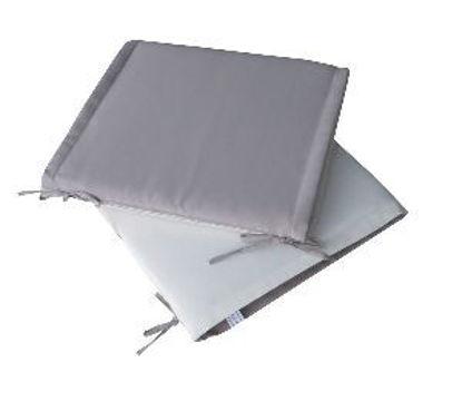 Immagine di cuscino per sedia, dimensioni cm.40x40 spessore cm.4, colore double face grey/ecrù