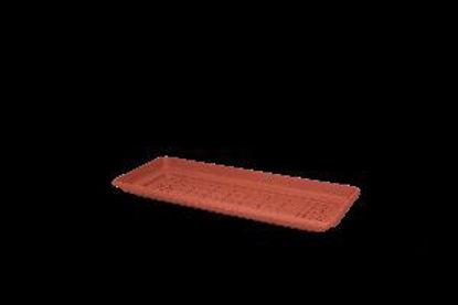 Immagine di daphne sottofioriera piana cm. 80 terracotta