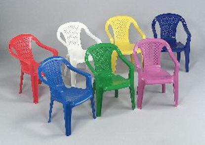Immagine di sedia monoblocco per bambini altea, impilabile in polipropilene, colori assortiti, dimensioni cm. 38x38 h. 52, peso kg. 0,9